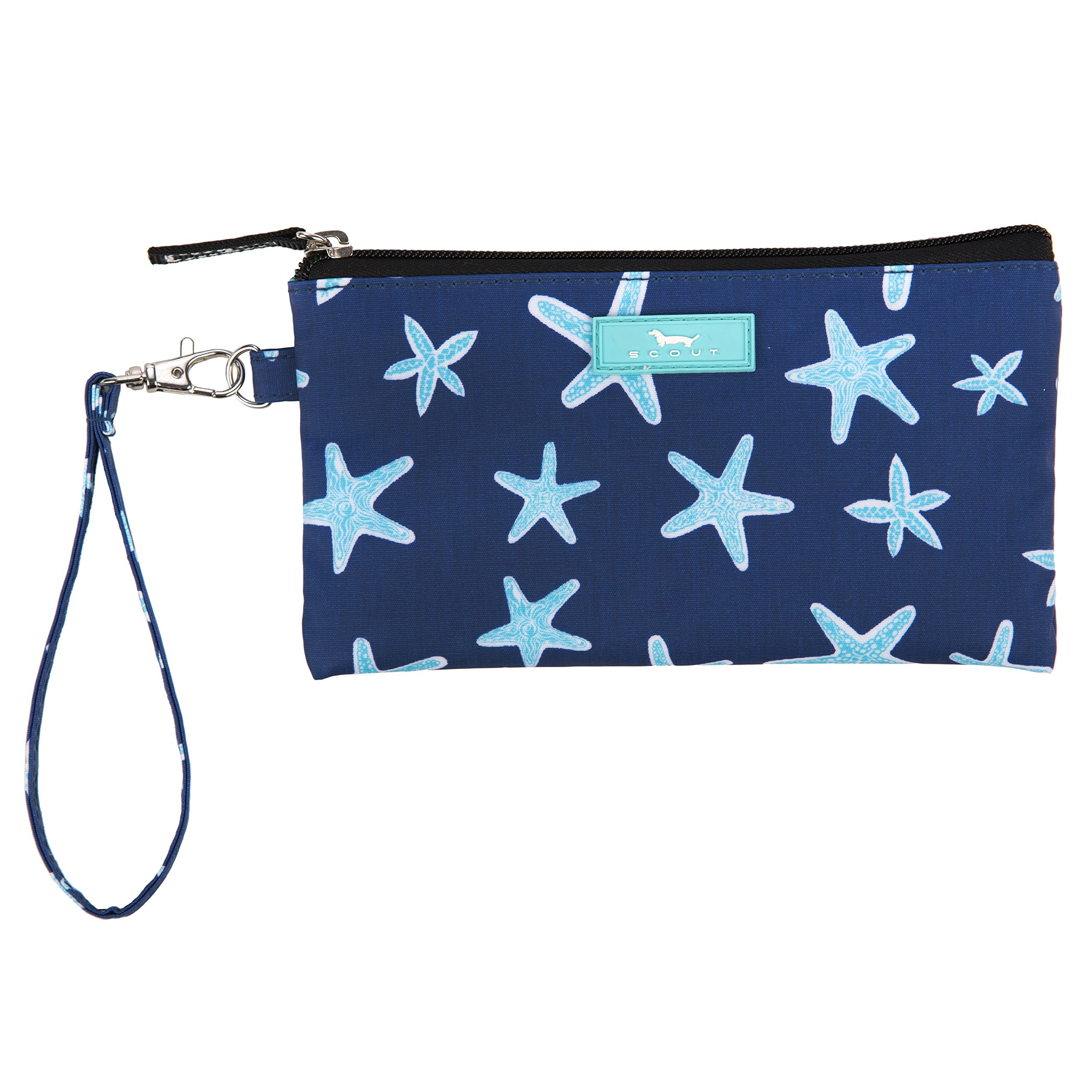 SCOUT Kate Wristlet, Essential Lightweight Clutch, Fits iPhone 6-8, Removable Strap, Water Resistant, Zips Closed, Fish Upon a Star