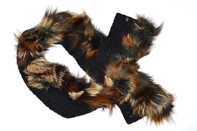 ampia scelta di colori e disegni ultimo sconto qualità del marchio GIOIELLI DI PELO - Sciarpa in lana con pelliccia vera in ...