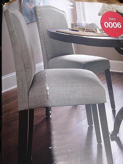 Thresholdâu201e¢ Camelot Nailhead Dining Chair   Milford Dove (1 Pack)