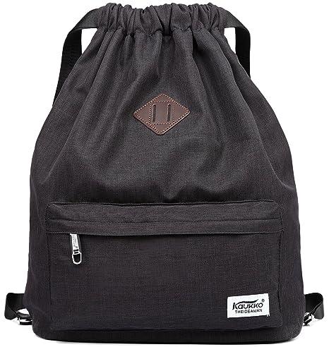 Amazon.com   Drawstring Sports Backpack Lightweight Gym Yoga Sackpack  Shoulder Rucksack for Men and Women Black   Drawstring Bags bb610c7ce2
