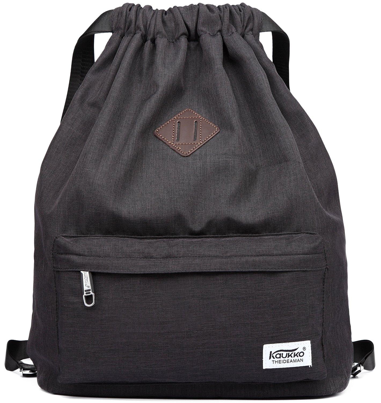 Kaukko Bags - Drawstring Sports Backpack Gym Yoga Sackpack Shoulder Rucksack  for Men and Women 1ed474b176f3c