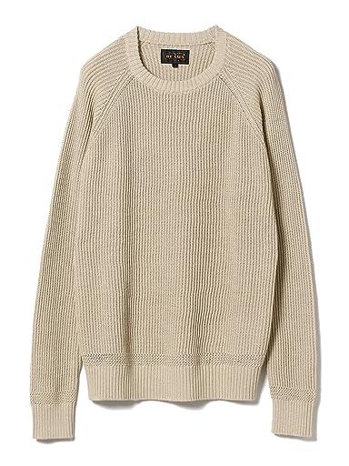 Cotton Rib Crewneck Sweater 11-15-1023-103: Beige