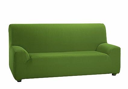 Martina Home Funda Elástica para Sofá de 3 Plazas, Modelo TUNEZ, Color Verde, Medida Desde 180 a 240 cm