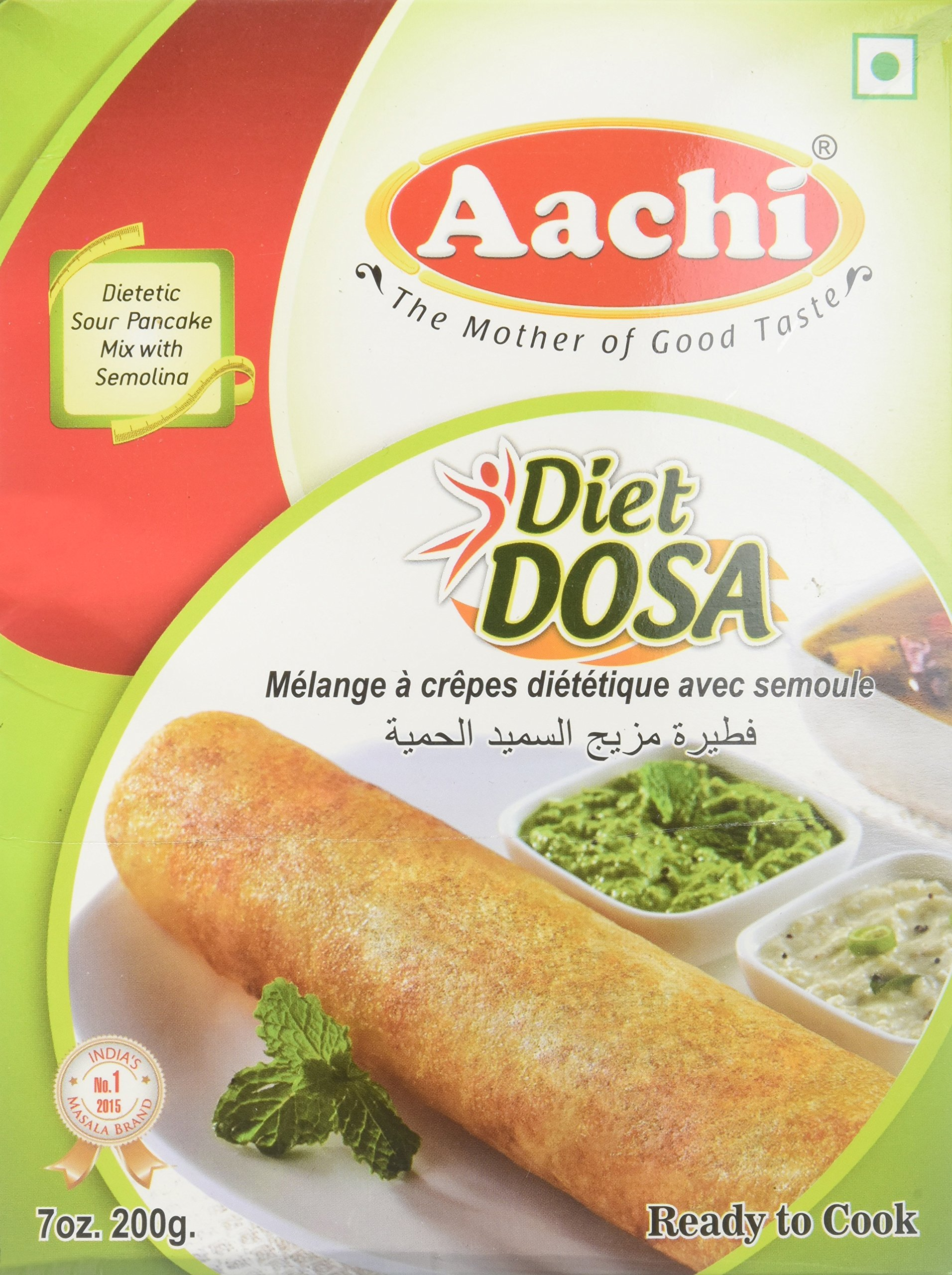 Aachi Diet Dosa, Dietetic Sour Pancake Mix with Semolina, 7 oz by Aachi
