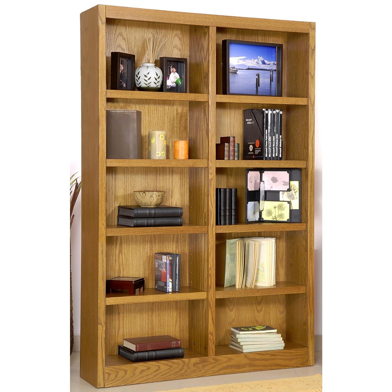 Amazon.com: Ten Shelf Double Bookcase 72
