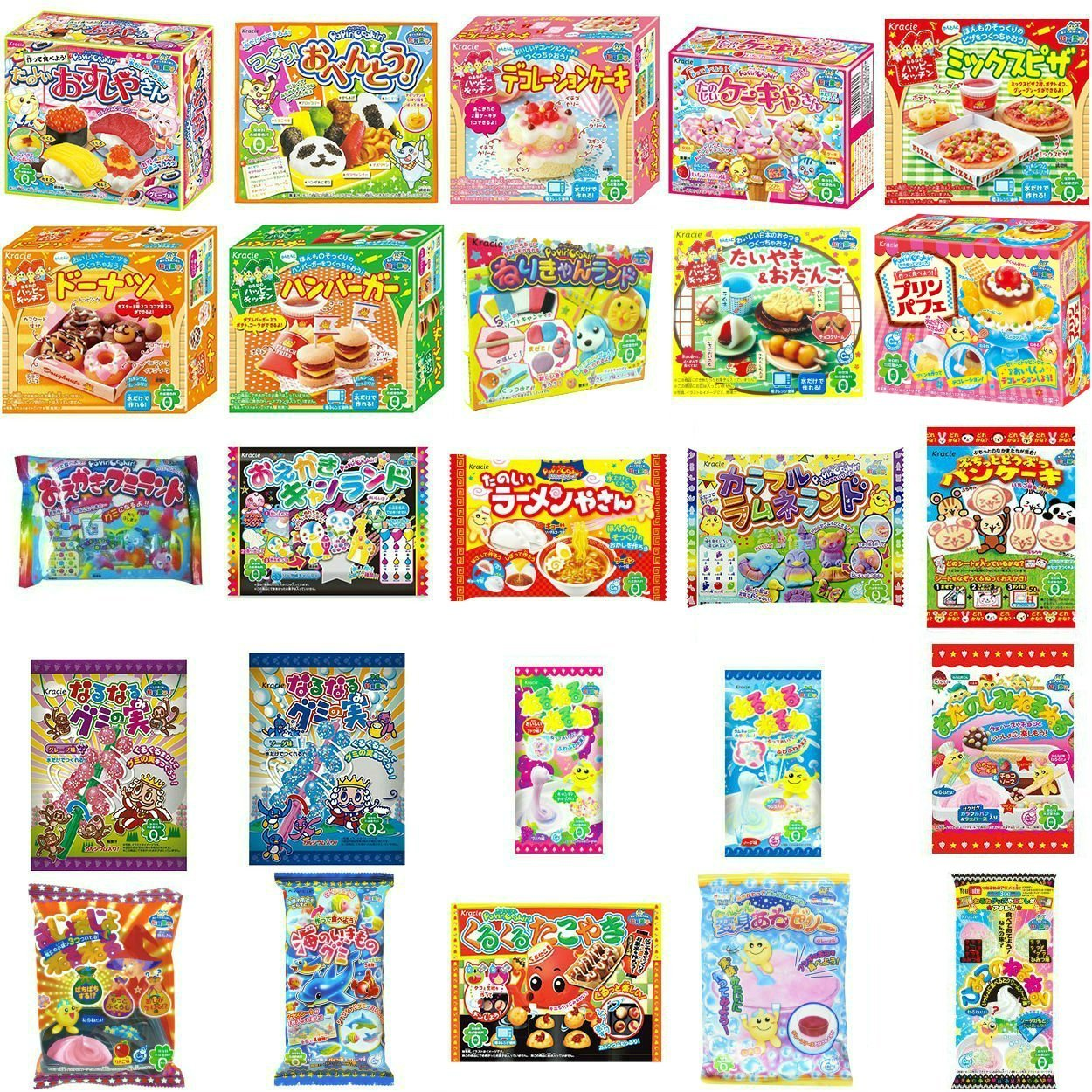 Popin cookin amazon - Amazon Com Kracie Popin Cookin 25 Item Bundle With Sushi Hamburger Bento Donuts Pizza Cake Shop And More Grocery Gourmet Food