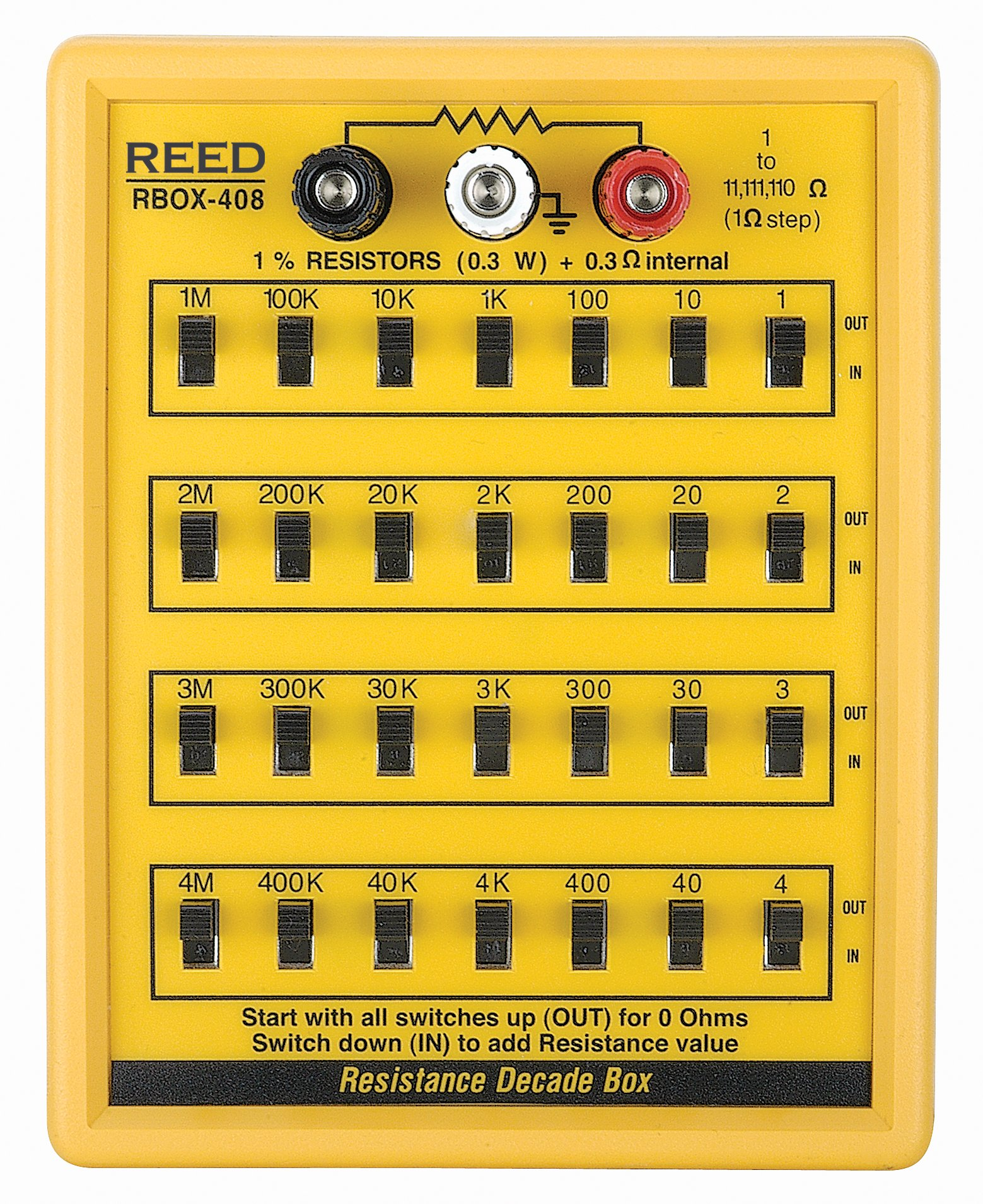 REED Instruments R5408 Resistance Decade Box by REED Instruments (Image #1)