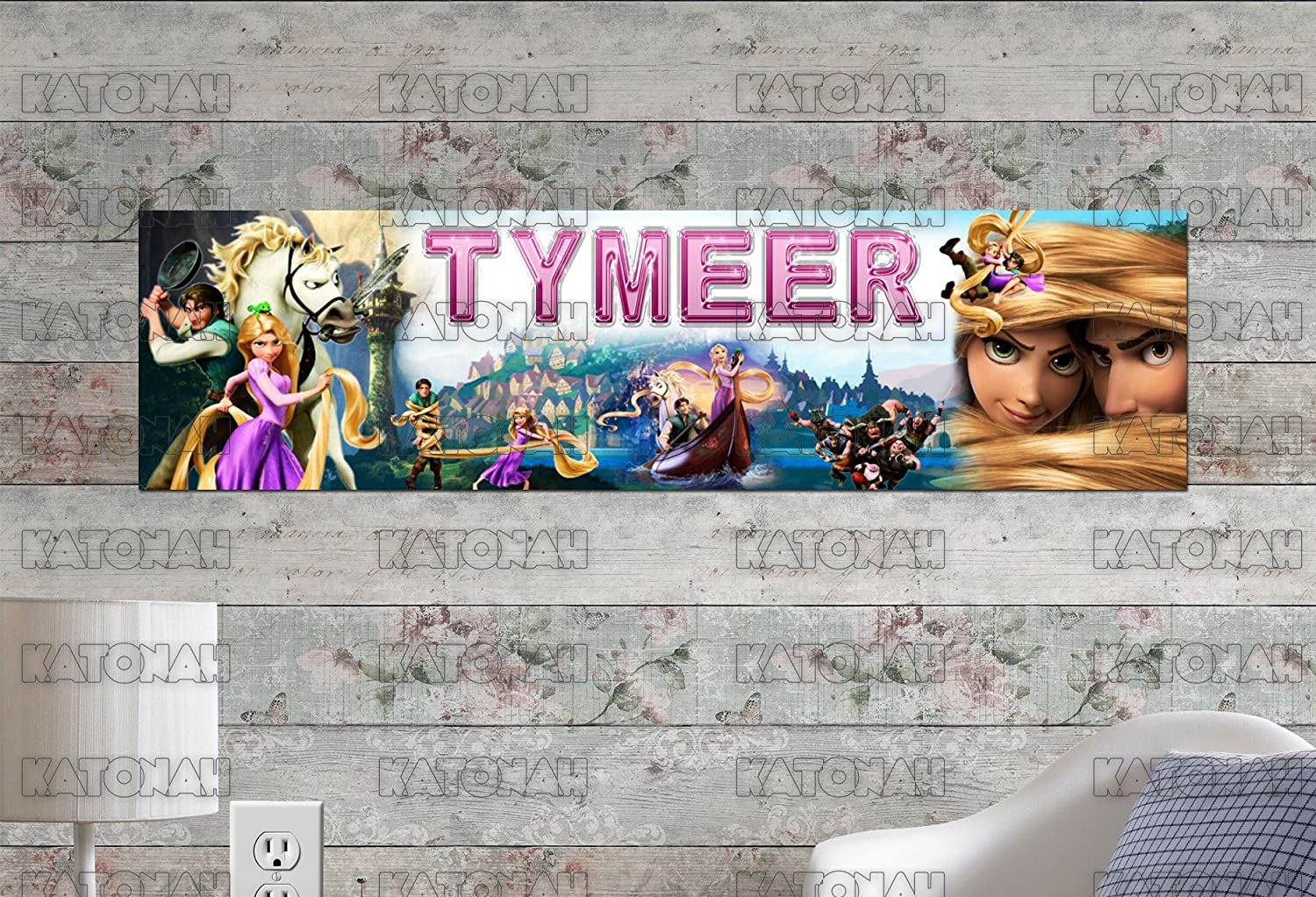 "FREE /""TANGLED/""  PERSONALIZED W//NAME PICTURE  ART//POSTER //BANNER//PICTURE"