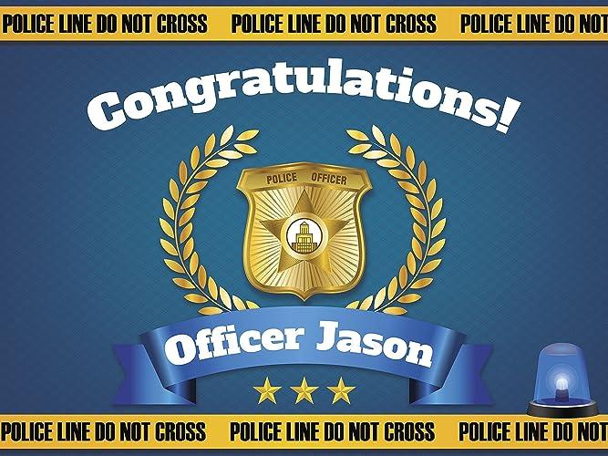 amazon com graduation banner congratulations officer police