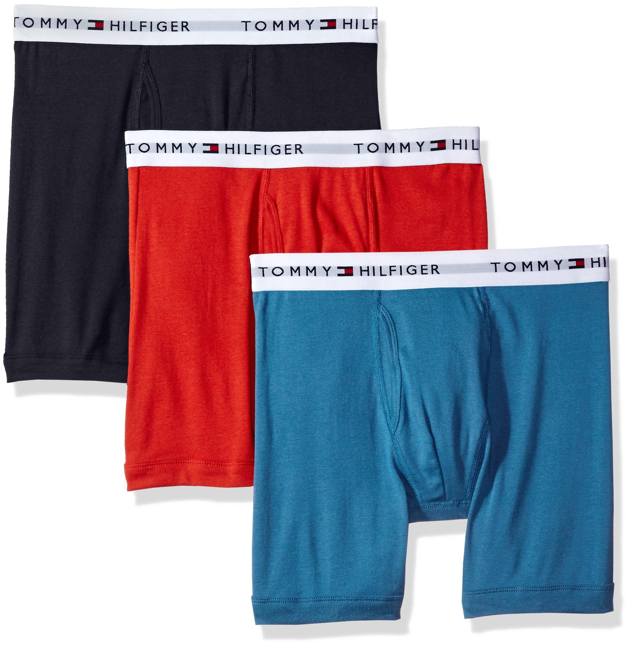Tommy Hilfiger Men's Underwear 3 Pack Cotton Classics Trunks, Turnip, Medium