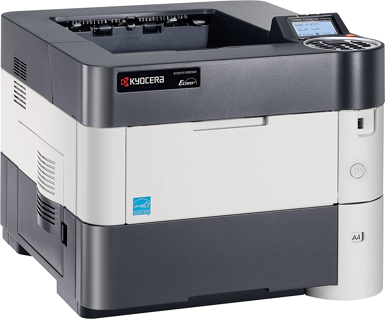 Kyocera 1102T72US0 ECOSYS P3055dn Black & White Network Printer, 5 Line LCD Screen with Hard Key Control Panel, Up to Fine 1200 DPI Print Resolution, ...