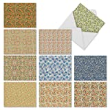 10 Floral Pattern Note Cards