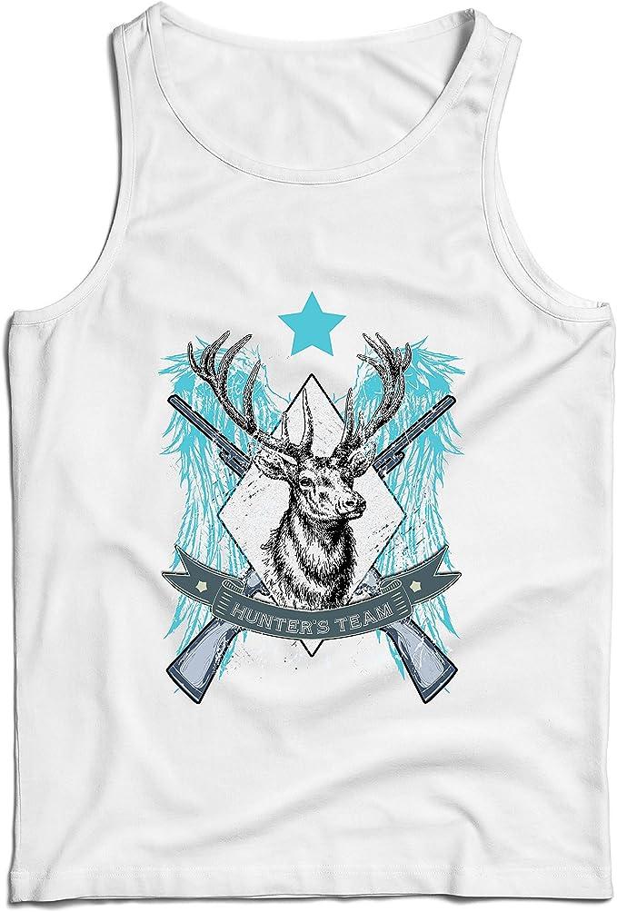 lepni.me Camisetas de Tirantes para Hombre Equipo de escuadrón de Caza de Ciervos, Equipo de Caza, Regalo de Cazador: Amazon.es: Ropa y accesorios