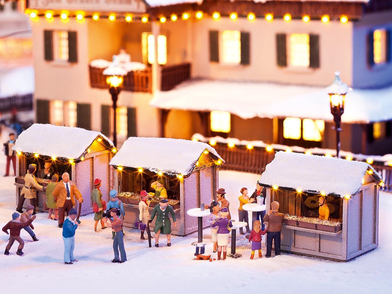 Noch 65610 - Weihnachtsmarkt, Kombi-Set