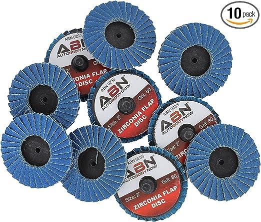 """Lot of 10 2/"""" Mini Roloc Flap Sanding Grinding Discs Zirconia"""