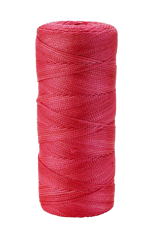Mutual Industries 14661-175-550 Nylon Mason Twine Twisted 1//2 lb Glo Pink 18 x 500 Pack of 6