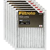 Filtrete Clean Living Basic Dust AC Furnace Air Filter, MPR 300, 14 x 25 x 1-Inches, 6-Pack