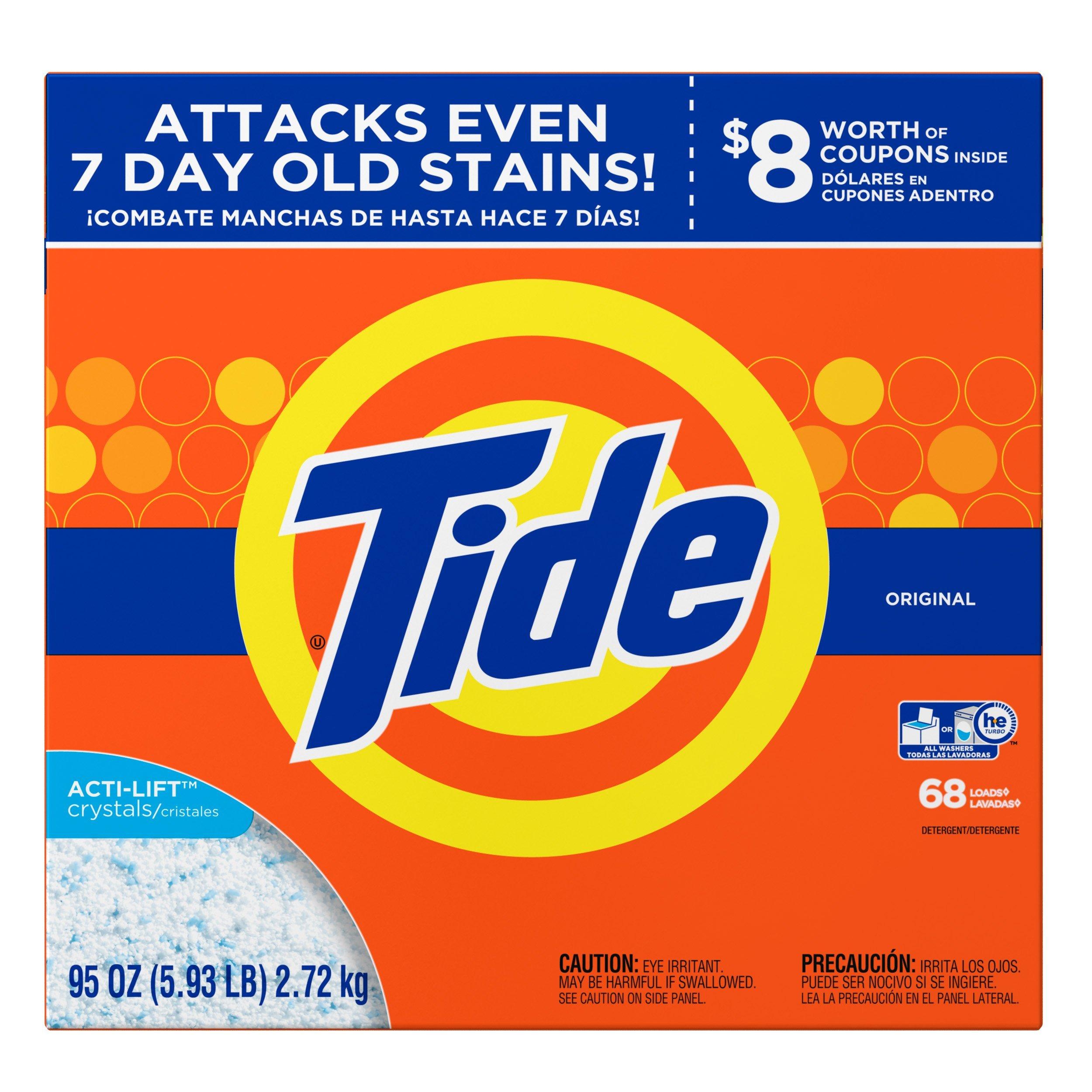 Tide Original HE Turbo Powder Laundry Detergent, 68 Loads, 95 Oz by Tide