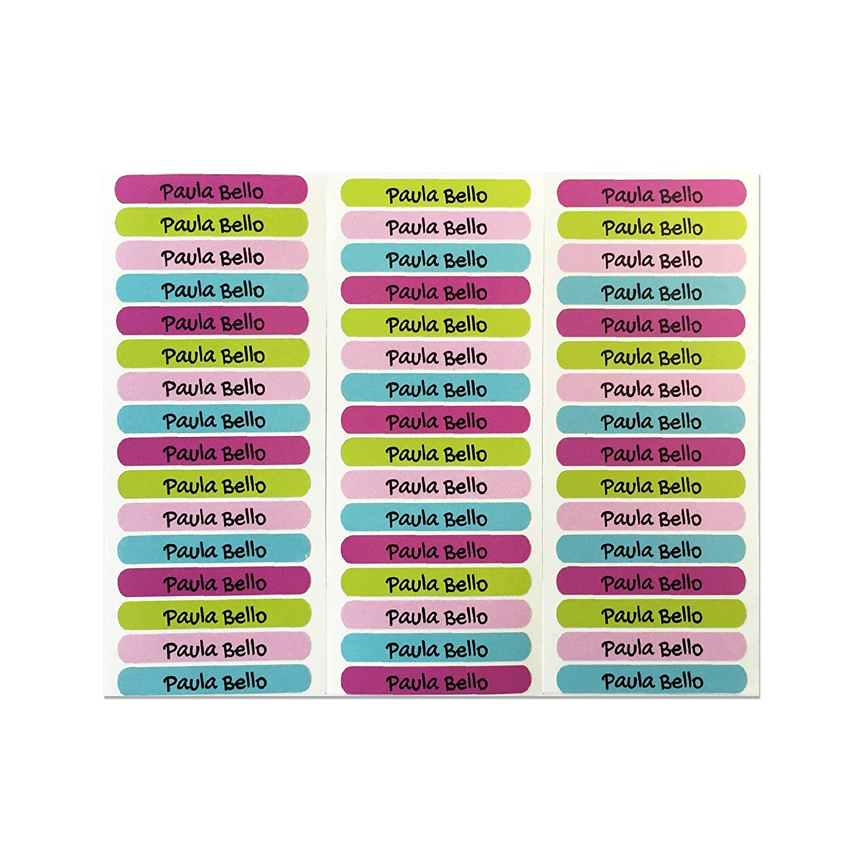 50 Etichette adesive personalizzate per quaderni, libri e materiale scolastico. Misura 6 x 1 cm. COLORE 9 Haberdashery Online