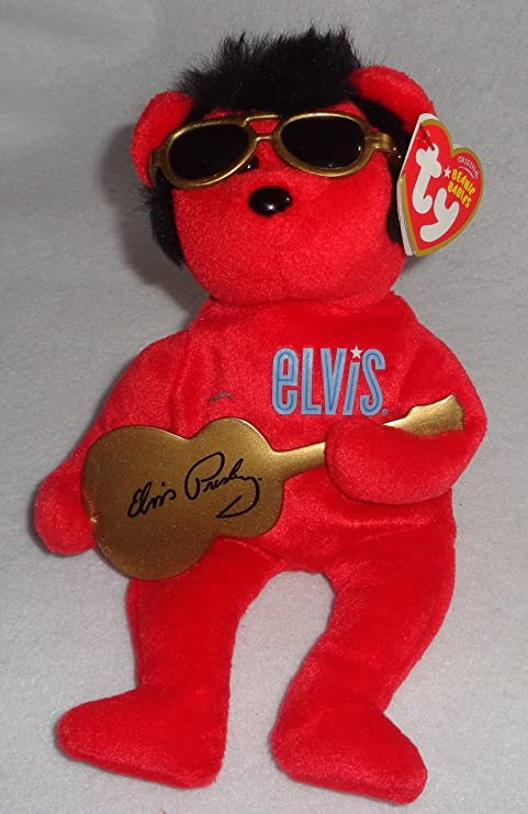 Amazon.com  Ty  Heartbear Hotel  Elvis Red With Guitar 6