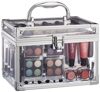 15341ccd9 Vanity Case Make Up Cosmetic Set Case Travel Organizer Professional Nail  Lip Eye 43 Piece: Amazon.co.uk: Beauty