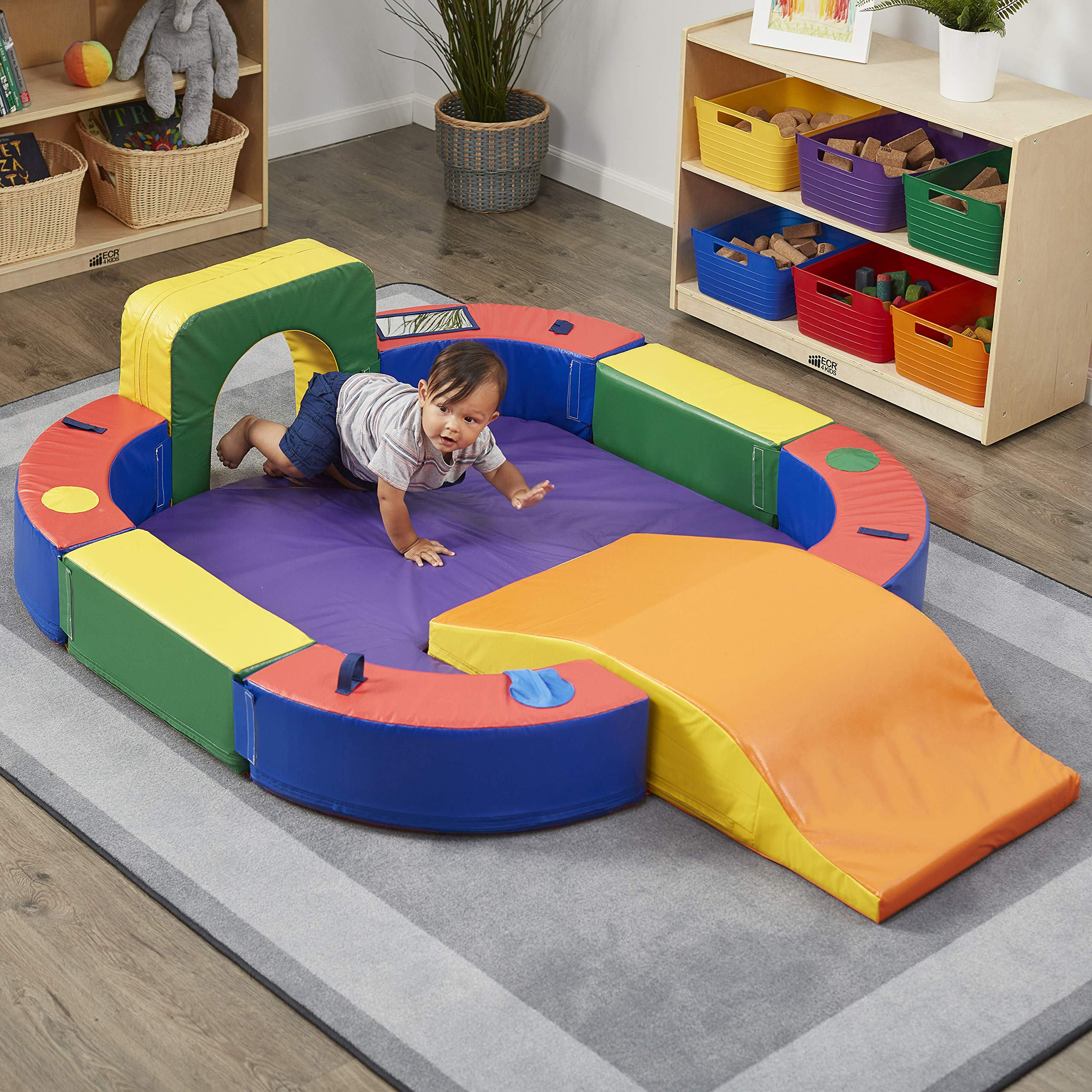 ECR4Kids SoftZone Discovery Center with Tunnel and Slide Playset, Assorted by ECR4Kids (Image #1)