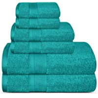 Deals on 6 Piece TRIDENT Soft Bathroom Towels Set