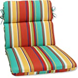 Pillow Perfect Outdoor Westport Spring Rounded Corners Chair Cushion, Multicolored