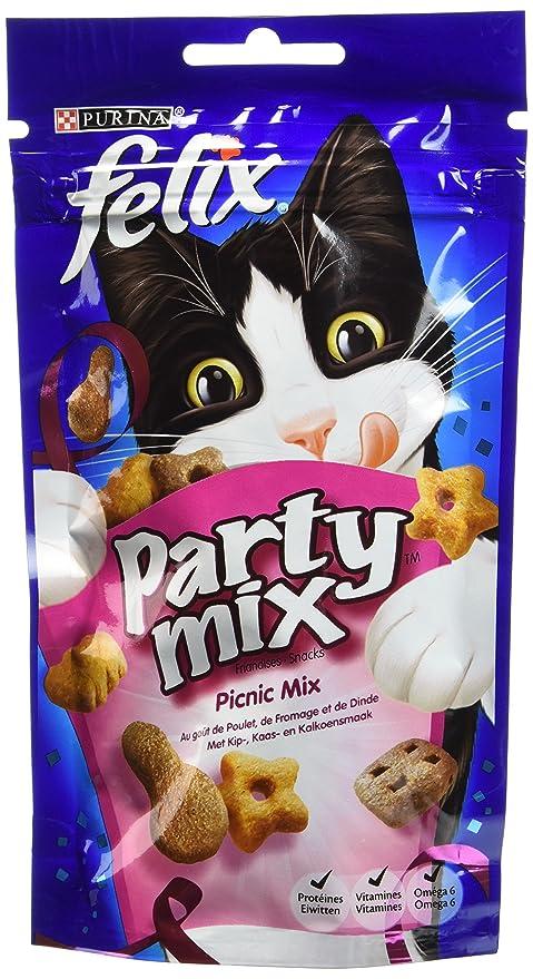 Felix Party Mix Dulces para Gato 60 G Sabor Diferentes – Lote de 8