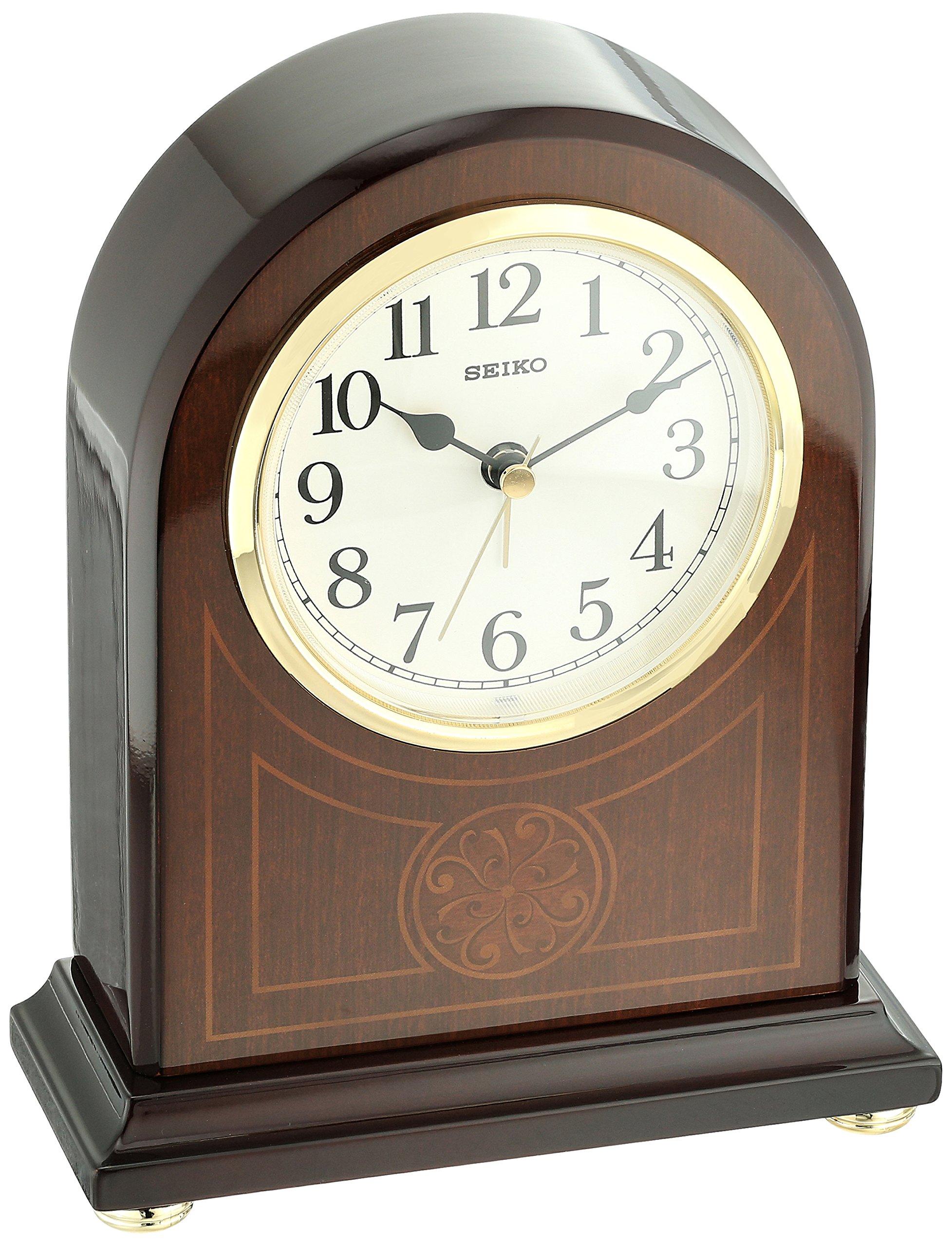 Seiko Wood Desk Clock (Model: QXE057BLH)