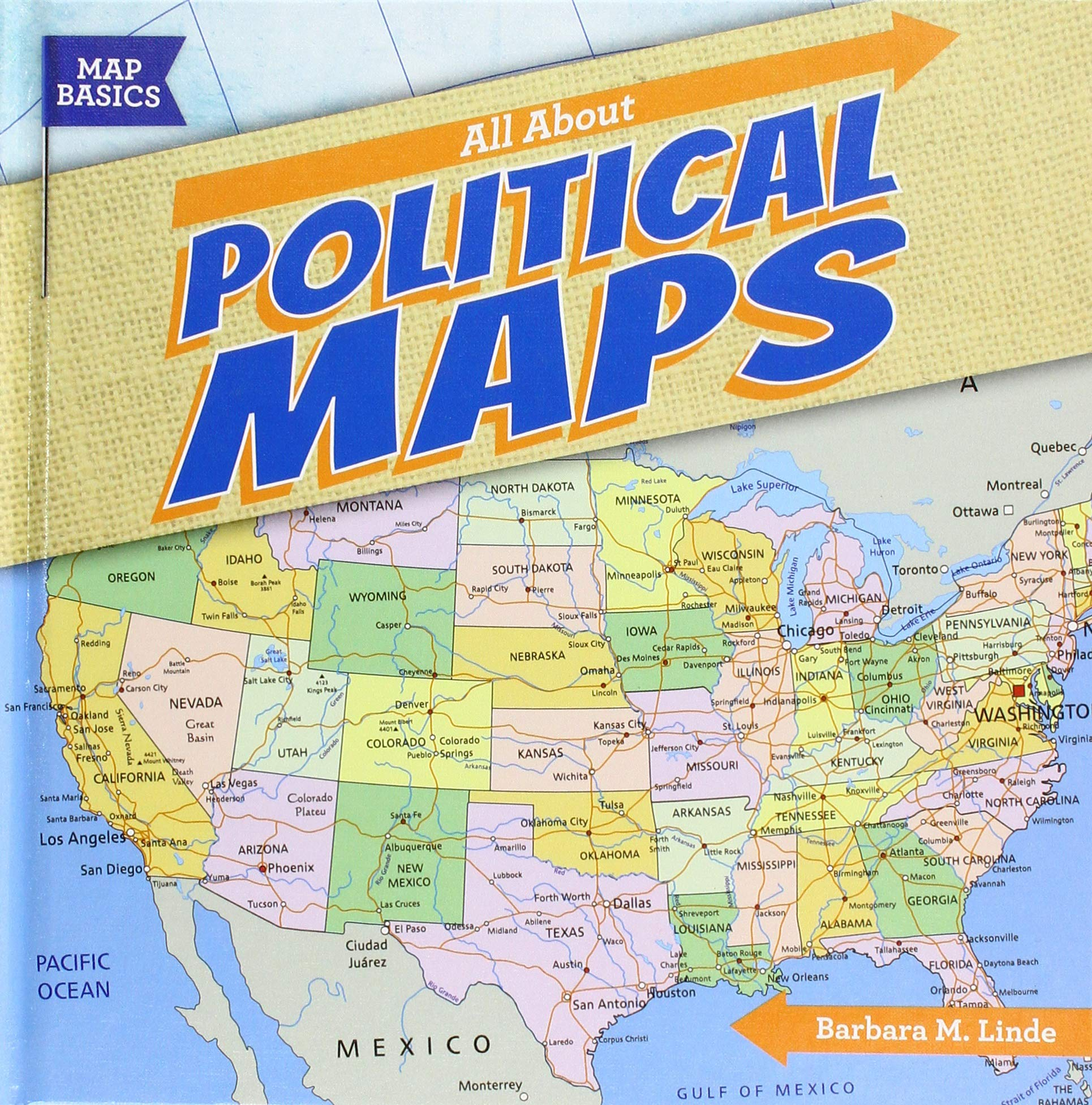 All About Political Maps Map Basics Barbara M Linde