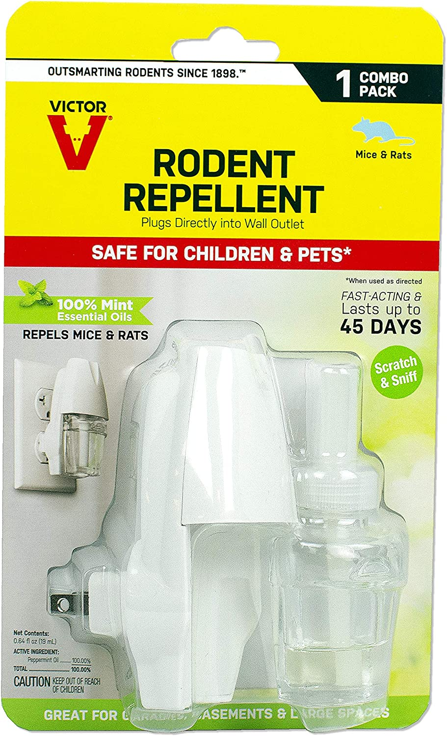 Victor M808 Plug-in Rodent Mouse and Rat Repellent, White