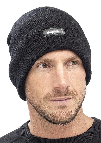 Gorro de esquí térmico de punto con forro interior Thinsulate (3M 40g) hombre caballero