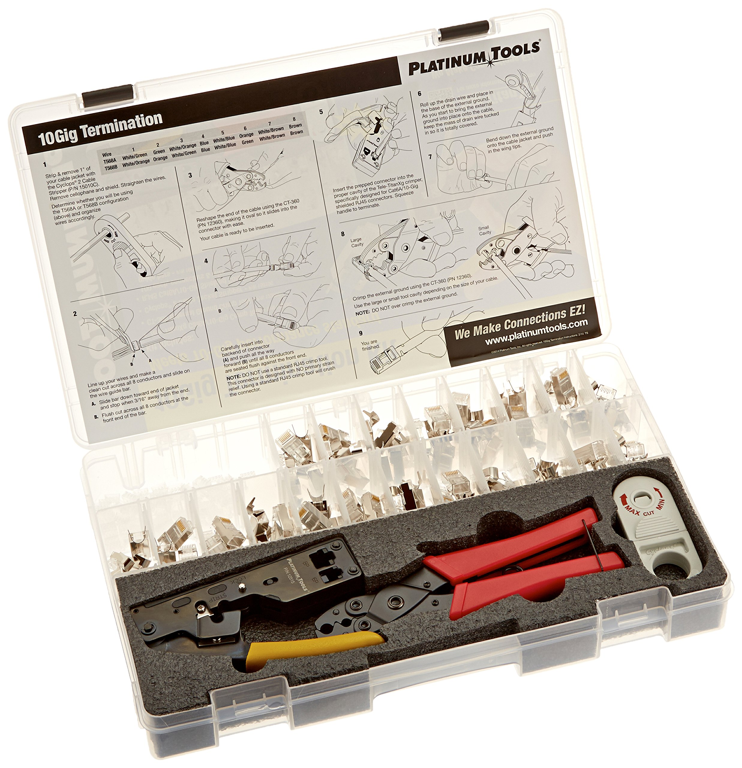 Platinum Tools 90170 10Gig Termination Kit. Box.