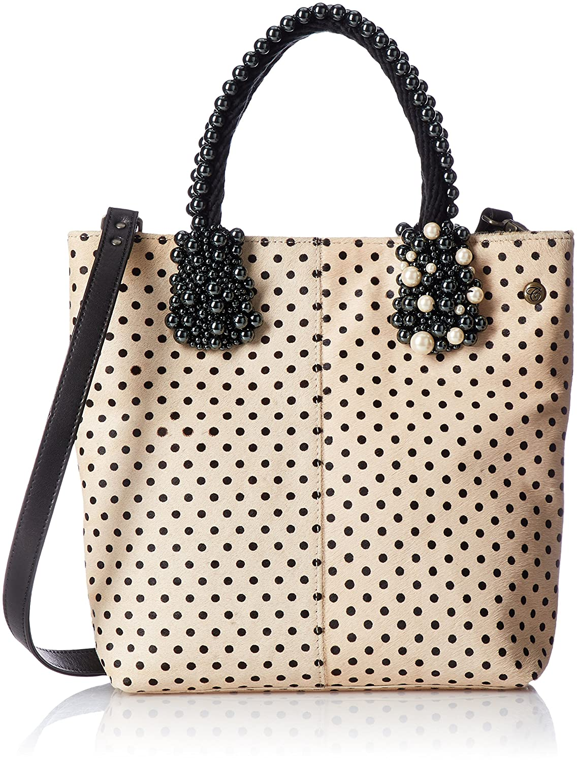[カルネ] Fur Leather × Rope & Pearl TotebagCE-1704-220 B0741Z8QSQ ベージュ ベージュ