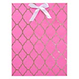Amazon Price History for:American Greetings Baby Shower Pink and Gold Glitter Trellis Medium Gift Bag (5448601)