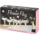 Talking Tables, prosecco Pong, Classico gioco per feste, con 12calici per prosecco in plastica e 3palline da ping pong rosa, ideale per compleanni, cerimonie, feste