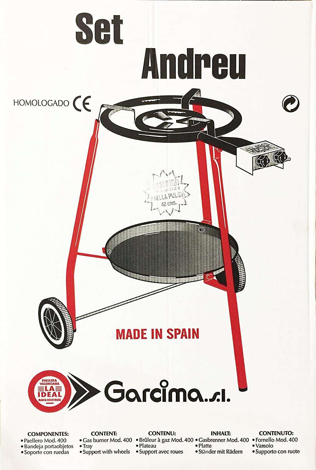 Amazon.com: Outdoor Paella Burner & 15 inch Paella Pan Set: Kitchen & Dining