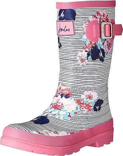 Joules Kids Girls Printed Welly Rain Boot