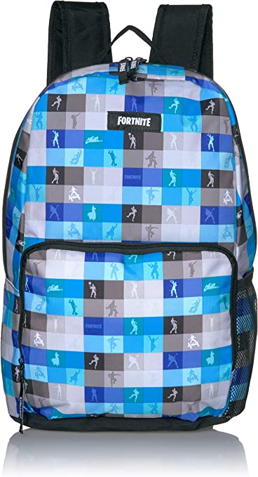 NEW Fortnite Amplify Backpack Gray Llama Print Full Size School Book Bag
