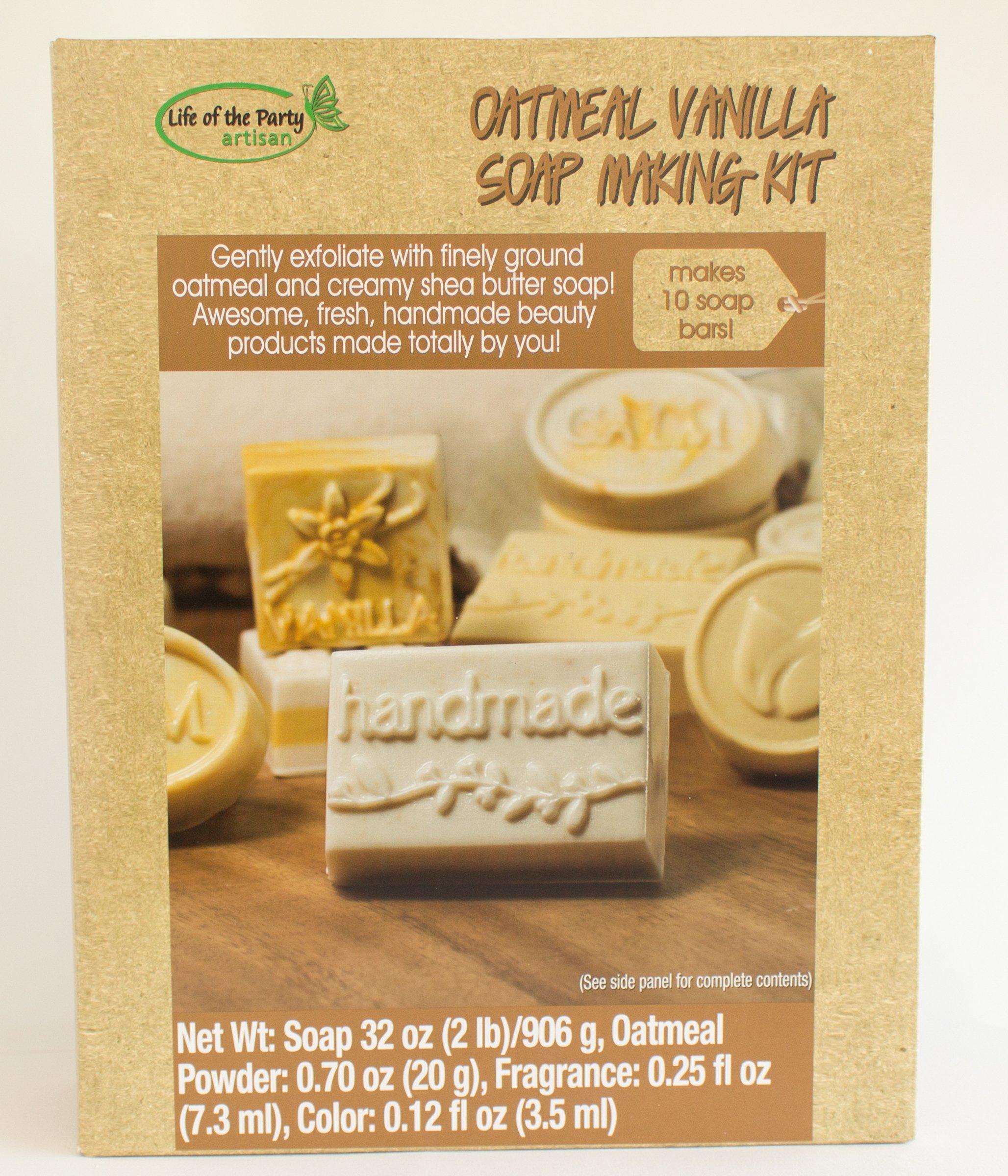 Life of the Party Oatmeal Vanilla Soap Making Kit, 57049