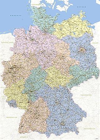 Deutschland Karte Autobahnen Und Städte.Landkarten Giant Xxl Poster Deutschlandkarte Bildungsposter 1 640 000 Größe 100x140 Cm Germany Map German Version