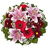 """Dominik Blumen und Pflanzen, Blumenstrauß""""Charlotte"""" mit rosa Lilien"""