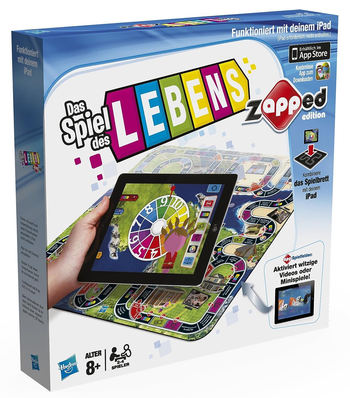 Hasbro 38187100 - Spiel des Lebens Zapped - spielbar mit iPad Brettspiele Non Books Sonstige Spiele