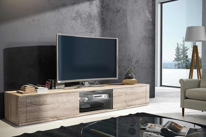 L Gant Meuble Tv Avec Support Tv Sonoma Mat Amazon Fr Cuisine  # Meuble Tv Sonoma