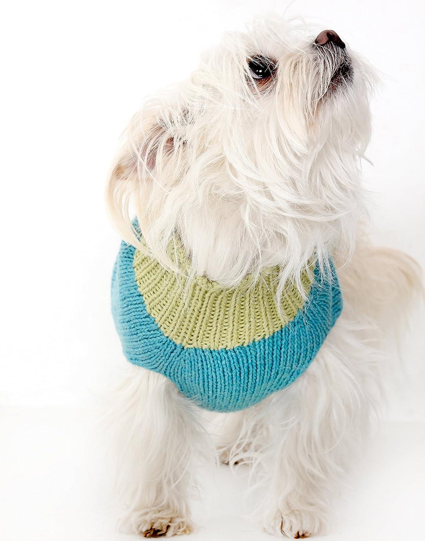 Organic Cotton Floral Dog Sweater,Organic Hand knit Dog Sweater Aqua by Zia /& Tia