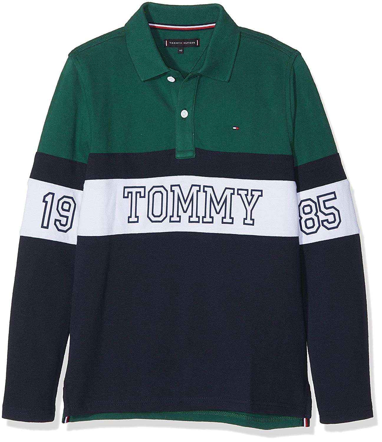 Tommy Hilfiger Essential Panel Print Polo L/s, Multicolor (Hunter ...