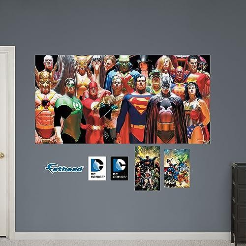 Fathead DC Comics Heroes Mural