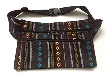 46f6de6d24a Amazon.com : Big Sale New Handmade Thai Embroidery Cotton Hip Waist Bag  Fanny Pack Belt Zip Pouches (Black and Blue) Free Gift : Cosmetic Tote Bags  : Beauty