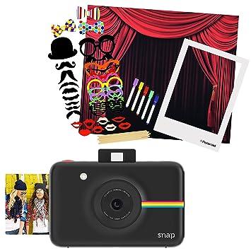 Polaroid Snap cámara de fotos instantánea (negro) + Polaroid All-in ...